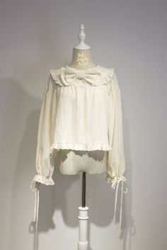 Lullaby -Little Heidi- Cotton-mixed Linen Lolita Blouse