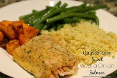 Notes from the Nelsens: Quick & Easy Sweet Vidalia Onion Salmon