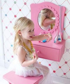 Cute Little Girlu0027s Dressing Table But I Would Do A Little Different, More  My Style.