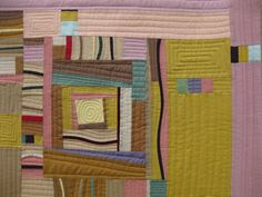 SEWmuchKNITting: Workshop with Gwen Marston: quilt finished!