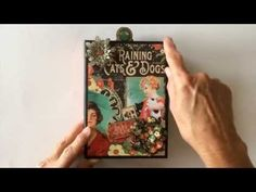 Raining Cats & Dogs mini album video tour from Ginger. Show off your furry family members! #graphic45