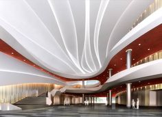 Interior of the Anhui Broadcasting Building in China by New Design Architecture