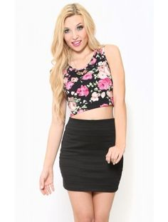 #Floral Love Crop Top