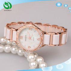 2015 diamantes moda aleación mujer reloj de pulsera pulsera