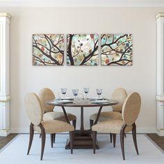 Artefx Decor Rustling Leaves Triptych Studio 212 Painting Print on Canvas