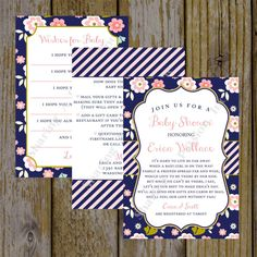 Long distance baby shower invitation i wrote this cute little poem shower by mail long distance baby shower invitations invitations filmwisefo