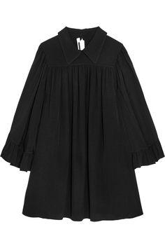 McQ Alexander McQueen - Crepe De Chine Mini Dress - Black - IT
