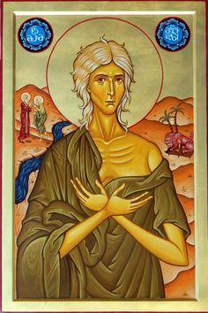 St. Mary of Egypt by Shota Tsintsadze Tamuna Javaxishvili of Georgia