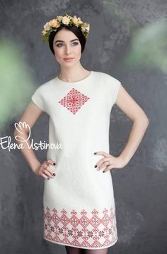 White Felted dress, Embroidered dress,Womens wedding dress, Elegant romantic dresses, Designer cloth