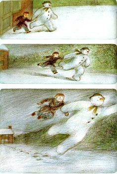 The Snowman by Raymond Briggs. (The author of Father Christmas, 聖誕老爸) Raymond Briggs, The Way Of Kings, Snowman Photos, Father Christmas, Christmas Movies, Christmas Eve, Vintage Children's Books, Vintage Kids, Children's Picture Books