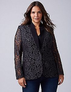 The Bryant Blazer - Lace | Lane Bryant