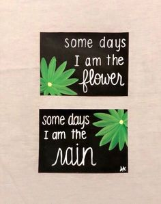 Excited to share this item from my #etsy shop: Inspirational quote sign, flower quote decor, flower painting, Some days i am the flower, some days i am the rain, life quote sign Paint Chip Cards, Painting Quotes, Flower Quotes, Inspirational Wall Art, Sign Quotes, Diy Art, Im Not Perfect, Rain, Hand Painted