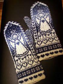 KARDEMUMMAN TALO: Enkelirasat Knitted Mittens Pattern, Knit Mittens, Lace Knitting, Knit Crochet, Fair Isle Pattern, Crochet For Kids, Handicraft, Tatting, Needlework