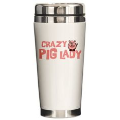 Pig Lady Ceramic Travel Mug