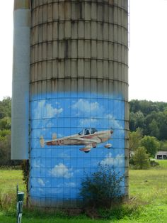 Saw this painted on an old silo ~ so cool