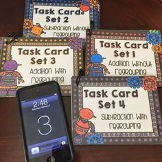 Self-Checking Addition and Subtraction Center - All you need is one device with a free QR code scanner app! Easy to differentiate and lots of fun for the students! 2nd Grade Classroom, Math Classroom, Classroom Ideas, Math Addition, Addition And Subtraction, Math Stations, Math Centers, Second Grade Math, Grade 2