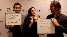 Tumblr GIF-erview with Hugh Dancy, Caroline Dhavernas, and Mads Mikkelsen. Gif by jhnmclghln #Hannibal