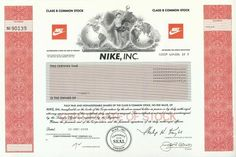 Nike Stock Certificate