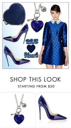 """""""Blue Heart!"""" by whirlypath ❤ liked on Polyvore featuring Charming Life, Christian Louboutin and STELLA McCARTNEY"""