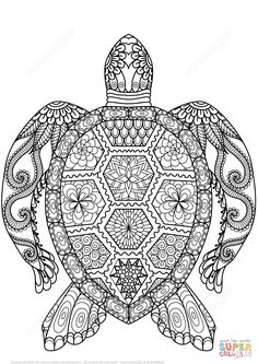 Tortuga Zentangle | Super Coloring