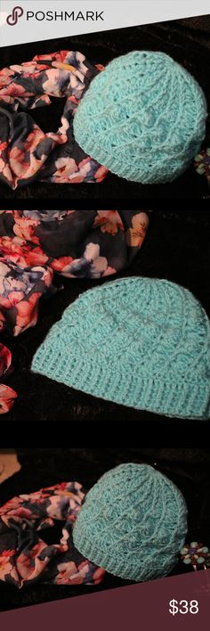 Crochet Beanie Beautiful Handmade Crochet beanie. Adult-Standard size. Color: turquoise. 100% Acrylic. This was made for a friend of mine-- 🚫Please do NOT PURCHASE THIS LISTING, if wanting to purchase comment below (this is what I made for friend) . **PRICE is based on: stitch difficulty, amount of yarn/Skein used, price of yarn, and time to complete. * Questions, ask below   🚫NO TRADES 🚫NO HOLDS 🚫NO NEGATIVITY 🚫🚫NO LOW BLOWS, will be DECLINED Crystals Creations  Accessories Hair…