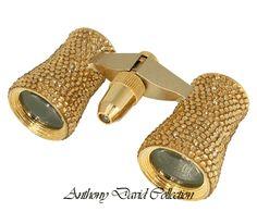 Swarovski Crystal Binoculars Opera Glasses - Gold