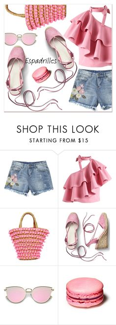 """Summer Espadrilles"" by poopsie-plopsie ❤ liked on Polyvore featuring Chicwish, Mystique and Gap"