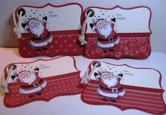 I found this idea from Andrea Walford to make tags from the Top Note Die Cut. They are big but so adorable! These use Jolliest Time of th...