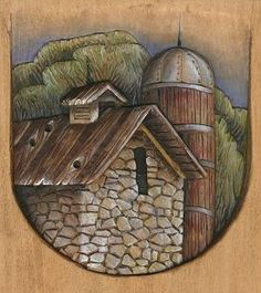 Landscape Relief Carving make a great landscape card or quilt