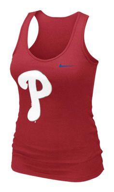 Philadelphia Phillies Women's Red Rib Tank by Nike $28.00 www.rallyhouse.com