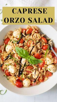 Orzo Salad Recipes, Healthy Pasta Salad, Best Salad Recipes, Healthy Pastas, Curry Recipes, Veggie Recipes, Vegetarian Recipes, Cooking Recipes, Healthy Recipes