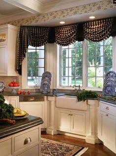 Formal kitchen yet cozy! Love it