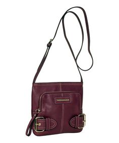 Take a look at this Plum Jolie Crossbody Bag by Franco Sarto on #zulily today!