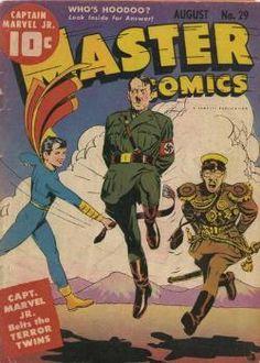 Captain Marvel Jr Master Comics World War II Comic Cover