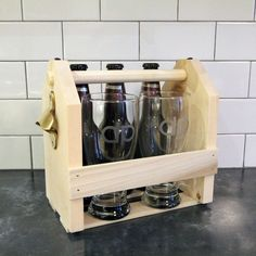 Handmade Holiday – Custom Beer Glasses and Carrier