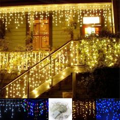 Led Icicle Curtain String Light: 4m/96 Led