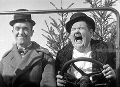 Stan Laurel & Oliver Hardy - 1918 Ford Model T used in Laurel & Hardy films Great Comedies, Classic Comedies, Classic Movies, Classic Hollywood, Old Hollywood, Stan Laurel Oliver Hardy, Bozo, Comedy Duos, Abbott And Costello