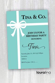 Printable Tiffany Inspired Birthday Invitation by ShopLauralina