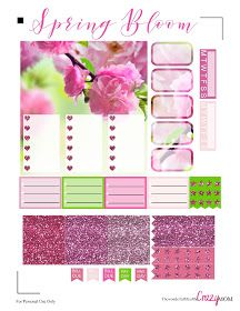The Wonderful Life of the Crazy Mom: Spring Bloom Free Printable Happy Planner Spread