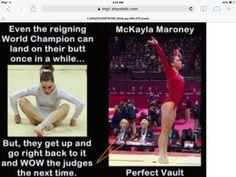 Even the best fall Gymnastics Problems, Gymnastics Quotes, Gymnastics Pictures, Olympic Gymnastics, Madison Kocian, Laurie Hernandez, Mckayla Maroney, Simone Biles, Gabby Douglas