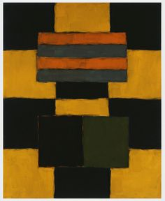 Green Robe Figure 2005 Sean Scully Oil on linen 86 x 72 in (218.4 x 182.9 cm)