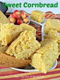 Sweet Cornbread is a delightful cornbread with a sweet flavor that includes a can of creamed corn for great texture.