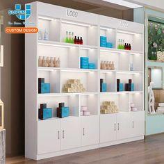 Rack Design, Shelf Design, Display Design, Cosmetic Display, Cosmetic Shop, Vape Store Design, Pink And Grey Room, Office Reception Design, Perfume Display