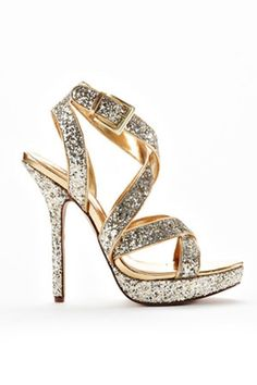 Haven Strappy High Heel In Gold And Silver