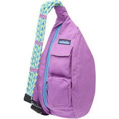 Kavu Rope Bag Purse ($50) ❤ liked on Polyvore featuring bags, backpacks, purses, one shoulder backpack, rope backpack, purple backpack, kavu backpack and one shoulder strap backpack