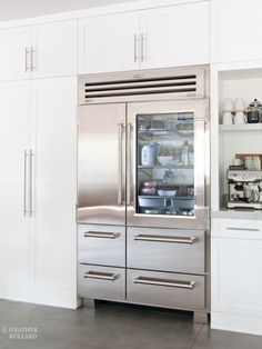 We knew we wanted a counter depth refrigerator since it was going to be built into the floor to ceiling cabinets.  Sub Zero Photos | Heather Bullard-101