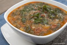 Kale Soup with Chorizo - Free Paleo Recipes and More. Get the recipe at BigChinKitchen.com