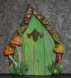 Wild Mushroom Fairy Door, Miniature Fairy Door, Fairy Garden, Fairy Decor, Portal