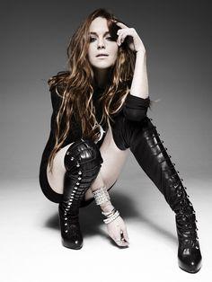 Elle UK Lindsey Lohan Portrait Editorial Fashion