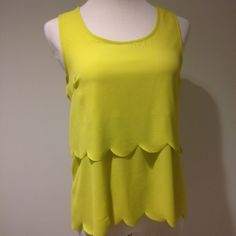 Bright sleeveless top with gorgeous back cut out 100% rayon (contrast design is 92% nylon 8% spandex). Tops Tank Tops